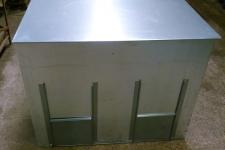 Dual fuel 2 storage bin front view