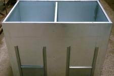 Dual fuel 2 storage bin lid open
