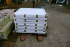 Flat packs on a pallet ready for shipping