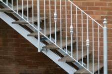 Galvanized stair rail