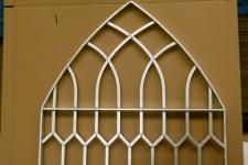 Bespoke gothic gate galvanized