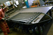 Bespoke gothic gate in production